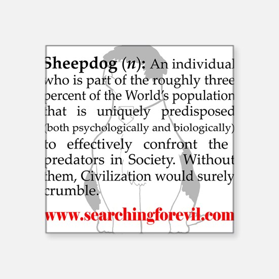 Sheepdog Definition Square Sticker