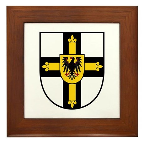 Crusaders Cross - Knights Templar Framed Tile