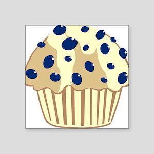 Blueberry Muffin Square Sticker
