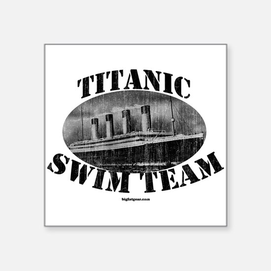 Titanic Swim Team Square Sticker