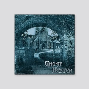 Ghost Hunter Spooky Gate Square Sticker