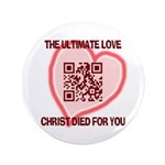 "Ultimate Love QR Code 3.5"" Button"