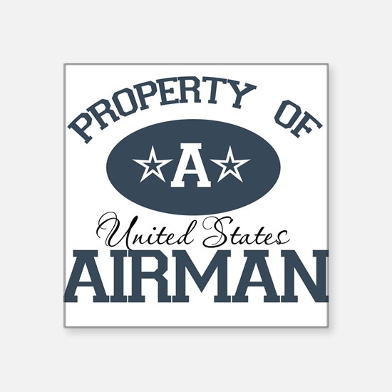 Property of a United States A Square Sticker