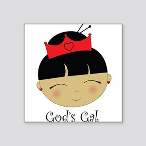 God's Gal Asian Square Sticker