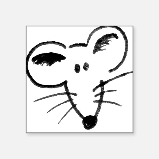 Rat Face Square Sticker