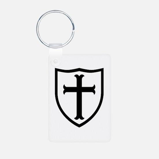 Crusaders Cross - Knights Templar B-W Keychains