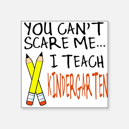 Kindergarten Teacher Square Sticker