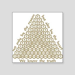 Pascal Quote Square Sticker