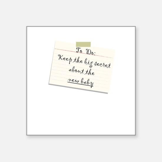 New Baby creeper Square Sticker