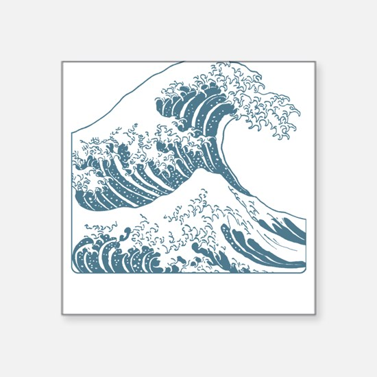 The Great Wave (Blue) Square Sticker