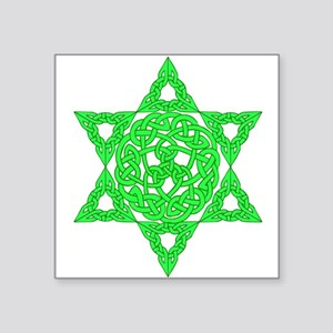 Celtic Star of David Square Sticker