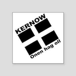 Kernow Square Sticker