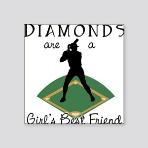Diamonds - Girl's Best Friend Square Sticker