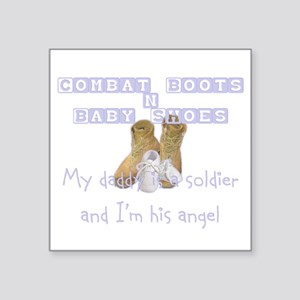 Combat Boots & Baby Shoes Square Sticker