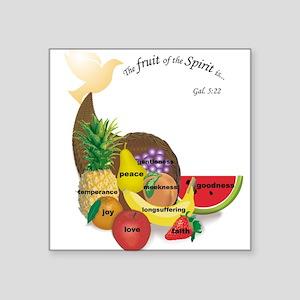 Fruit of the Spirit Square Sticker