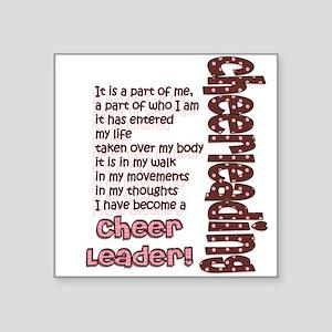 Become a Cheerleader Square Sticker