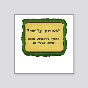 FamilyGrowth Square Sticker