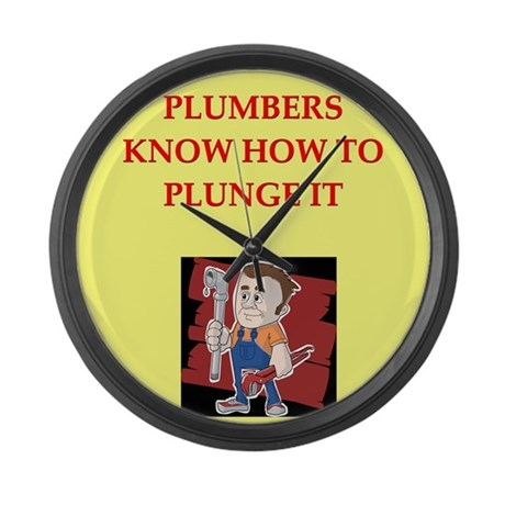 PLUMBER.png Large Wall Clock