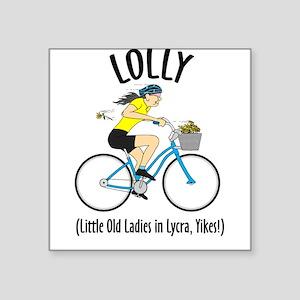 Lolly Square Stickerastel Square Sticker