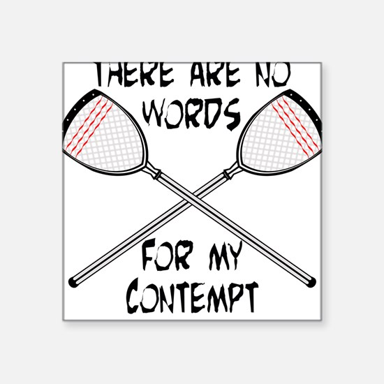 Lacrosse Contempt Square Sticker