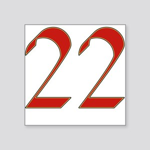 Mink 22 Square Sticker