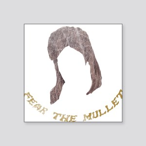 Fear The Mullet Square Sticker d146d230f8ce