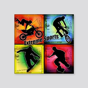 Extreme Sports Square Sticker