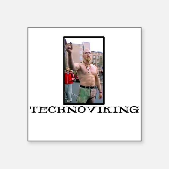 Technoviking Square Sticker