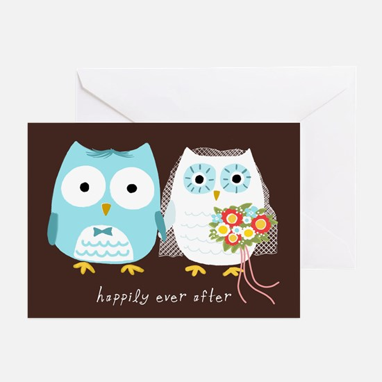 Owls Wedding Thank You Cards (Pk of 20)