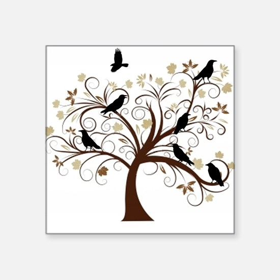 The Raven's Tree Square Sticker