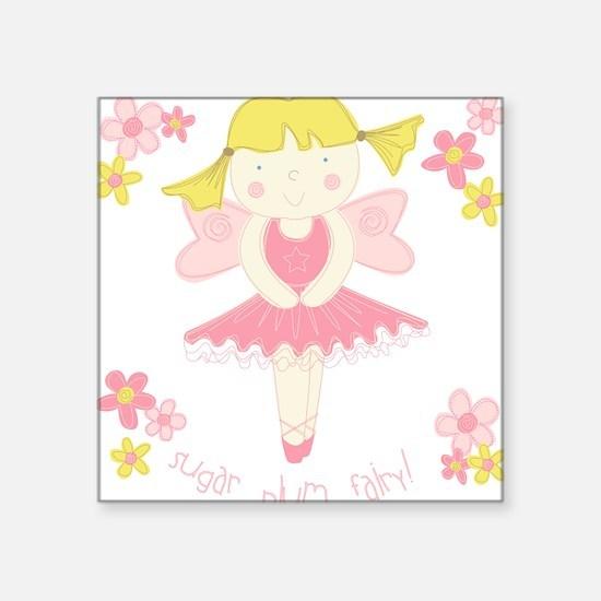 Sugar Plum Fairy Flower Square Sticker