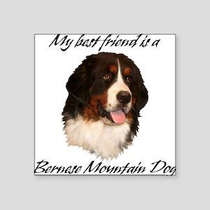 Bernese Best Friend Square Sticker
