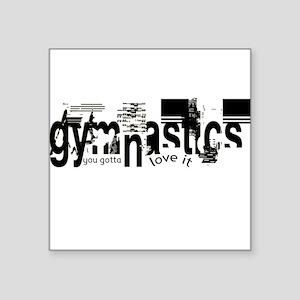 gymnastics Square Sticker