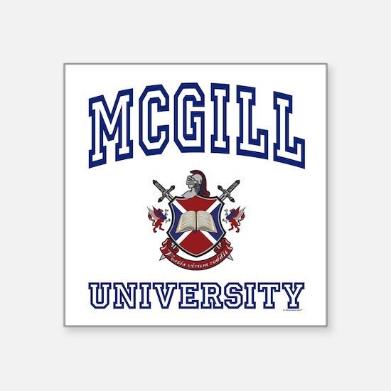 MCGILL University Square Sticker