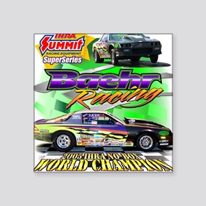 Baehr Championship Square Sticker