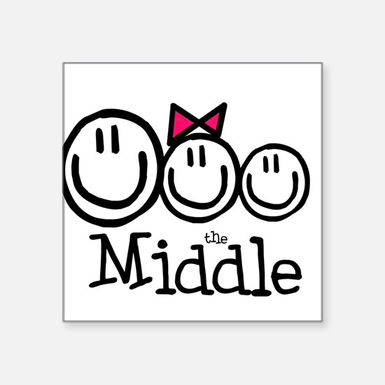The Middle Square Sticker