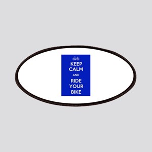Keep Calm and Ride Your Bike Blue Patches