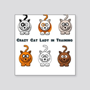 Crazy Cat Lady In Training Square Sticker