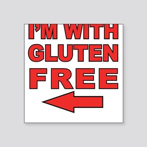 I'm With Gluten-Free Square Sticker