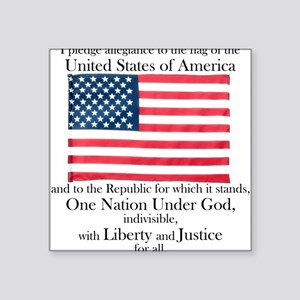 Pledge of Allegiance Square Sticker