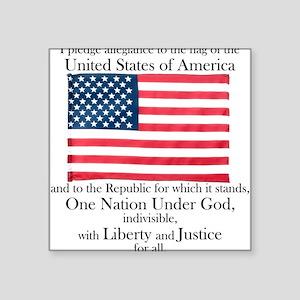 Pledge of Allegiance Square Sticker