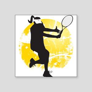 Tennis Zone Square Sticker