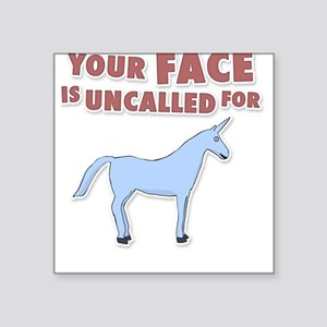 Your Face Square Sticker