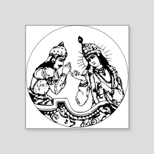 Arjuna-Krishna Square Sticker