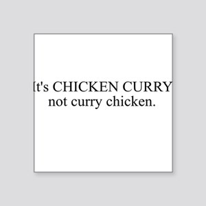 CHICKEN CURRY Square Sticker