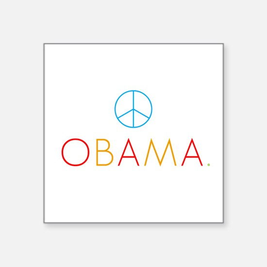OBAMA PEACE color Square Sticker