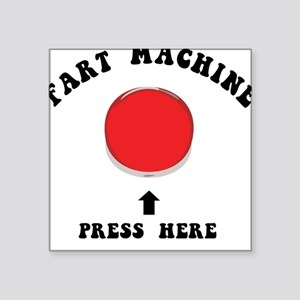 Fart Machine Square Sticker