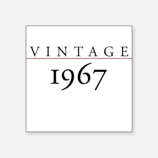 Vintage 1967 Square Sticker