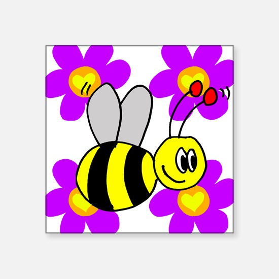 Bumble Bees Square Sticker