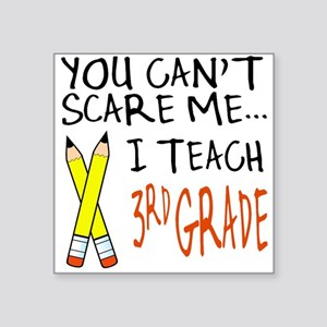 3rd Grade Teacher Square Sticker